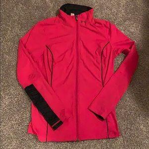 Ladies Under Armour Pink Zip-up Running Jacket